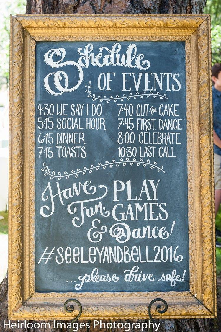 Sign created by Chalked