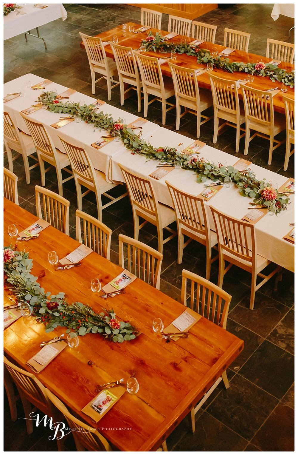 Grand tables at Rock Springs Guest ranch
