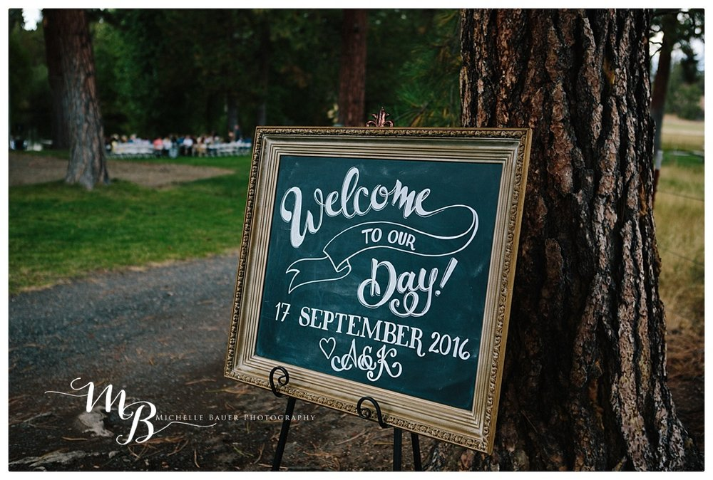 A welcome sign is always a great idea.  this one was created  by Chalked