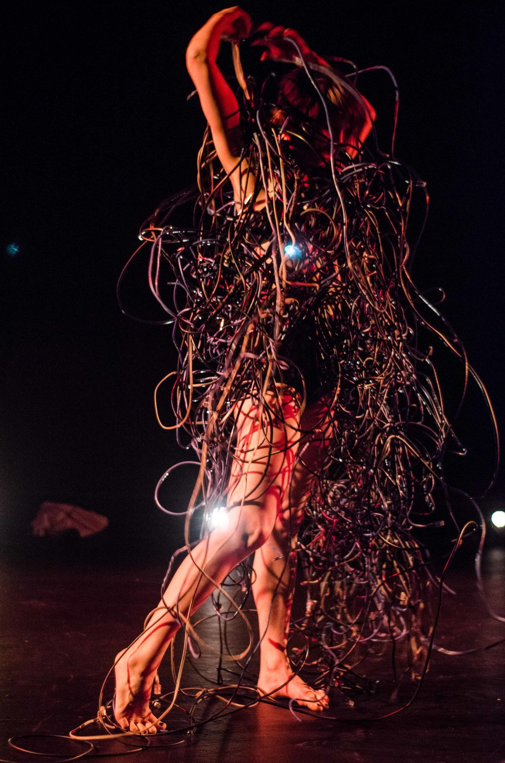 Sarah Fiddaman performing in DirtyFeet / Chronology Arts collaboration choreographed by Sarah-Vyne Vassallo, composed by Andrew Batt-Rawden. Photography by Heleana Genaus (2013)