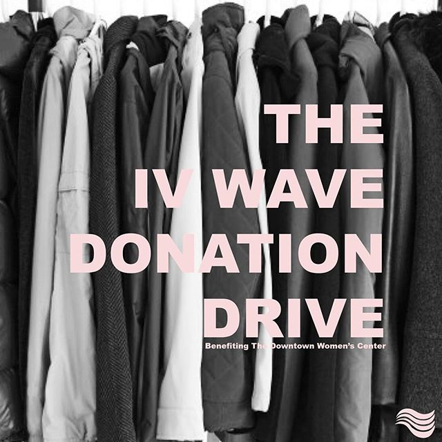 The holidays are right around the corner and what a better time to give back to our communities. Join us this week in donating to the Los Angeles Downtown Women's Center as part of our inaugural holiday donation drive. Swipe right to see how you can get involved! @dwcweb #TheIVWave #DonationDrive #DowntownWomensCenter