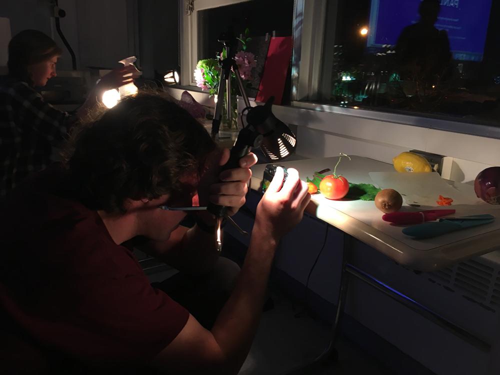Byron Thorne lights and shoots! Photo: Kathryn Reichert