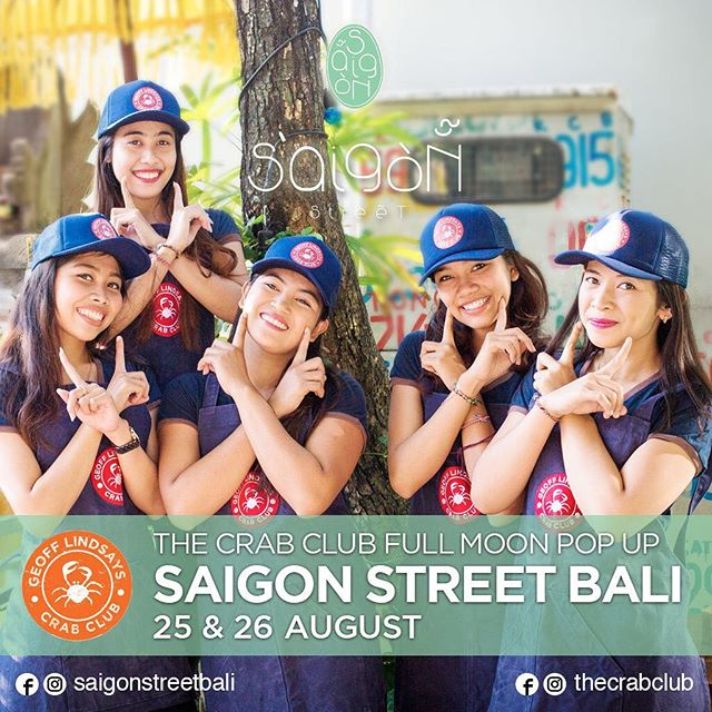T minus 5 days until this party starts! We're popping up in Bali this weekend...call Saigon Street directly on 0361 897 4007 or email info@saigonstreetbali.com for reservations. Be quick! #letsgetcracking #balipopup #fomo #chillicrab #balifood #balifoodies #balieats #saigonstreet
