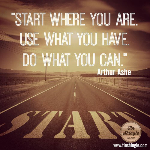 Quote Start Where You Are Use What You Have Do What You Can Tin