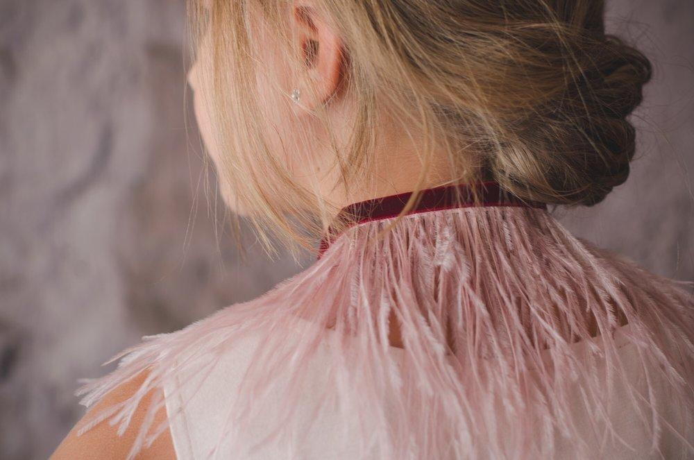 Cuellos de plumas