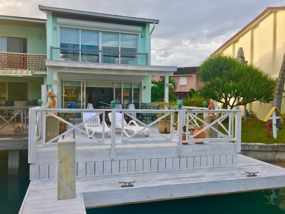 View of the house and deck from the pier. & The House \u2014 The Cullen\u0027s House Antigua