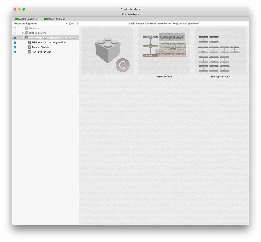 Controolermateは左側にページを作成し、右側に好みの設定を組んでいくという形。