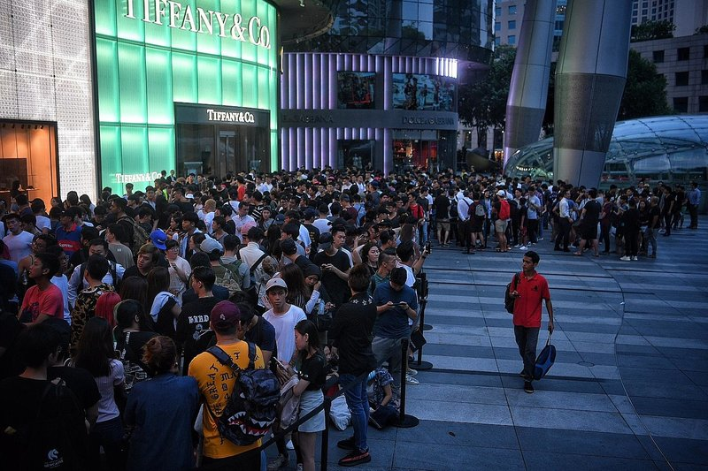 Source: The Straits Times, Queuing in Supreme Hope