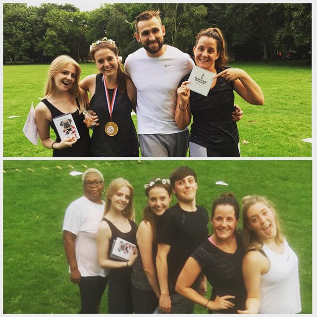 Big well done to @sarahlough she killed tonight bootcamp, becoming this weeks winner and happy birthday to the lovely @cazanson and @aimeestewart94 🍾🍾