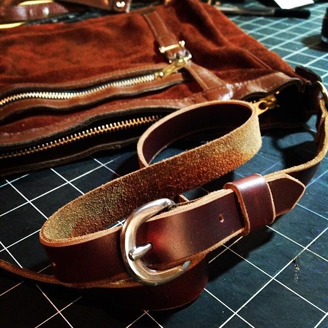 Someone's beloved old bag gets a lithe new strap.