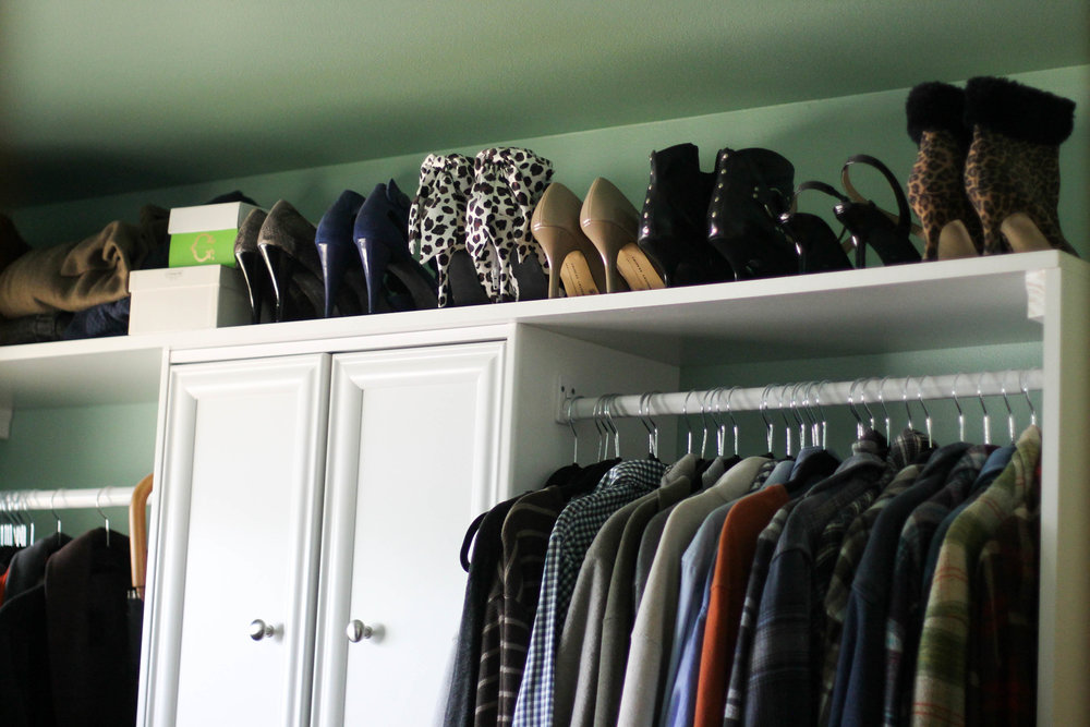 The third bedroom was turned into a huge walk-in closet. Naturally.
