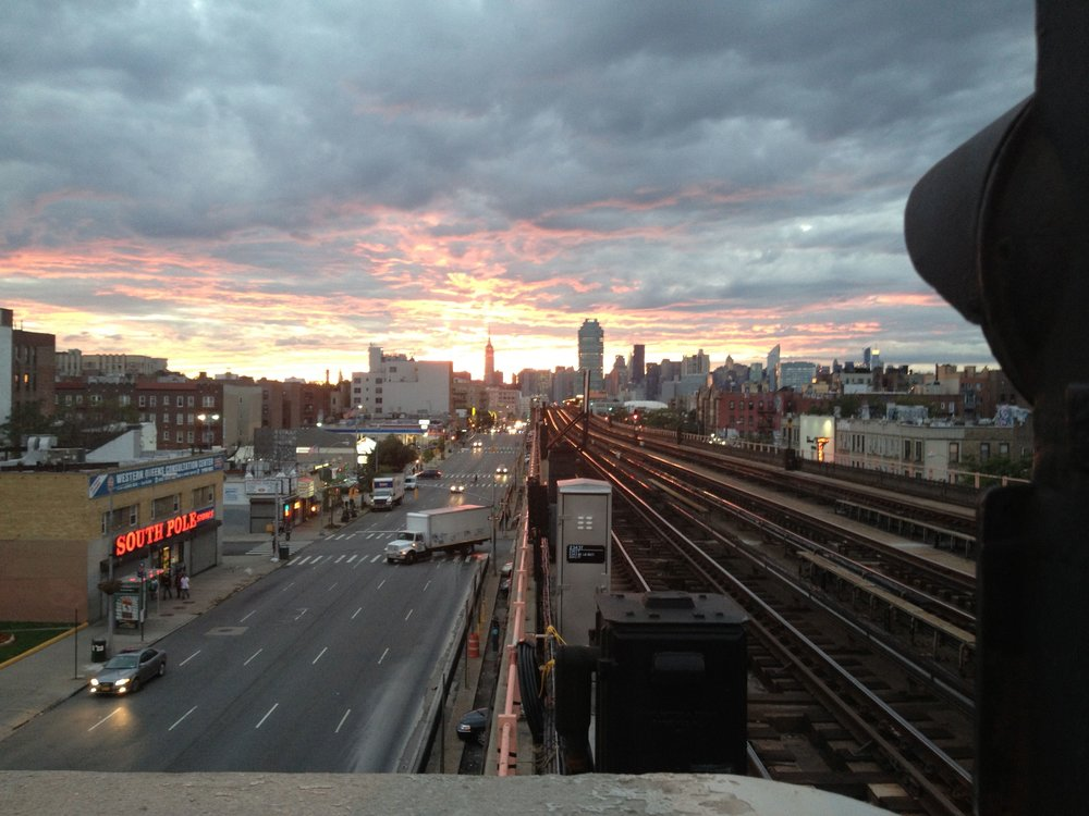 Sunset over Sunnyside, Queens