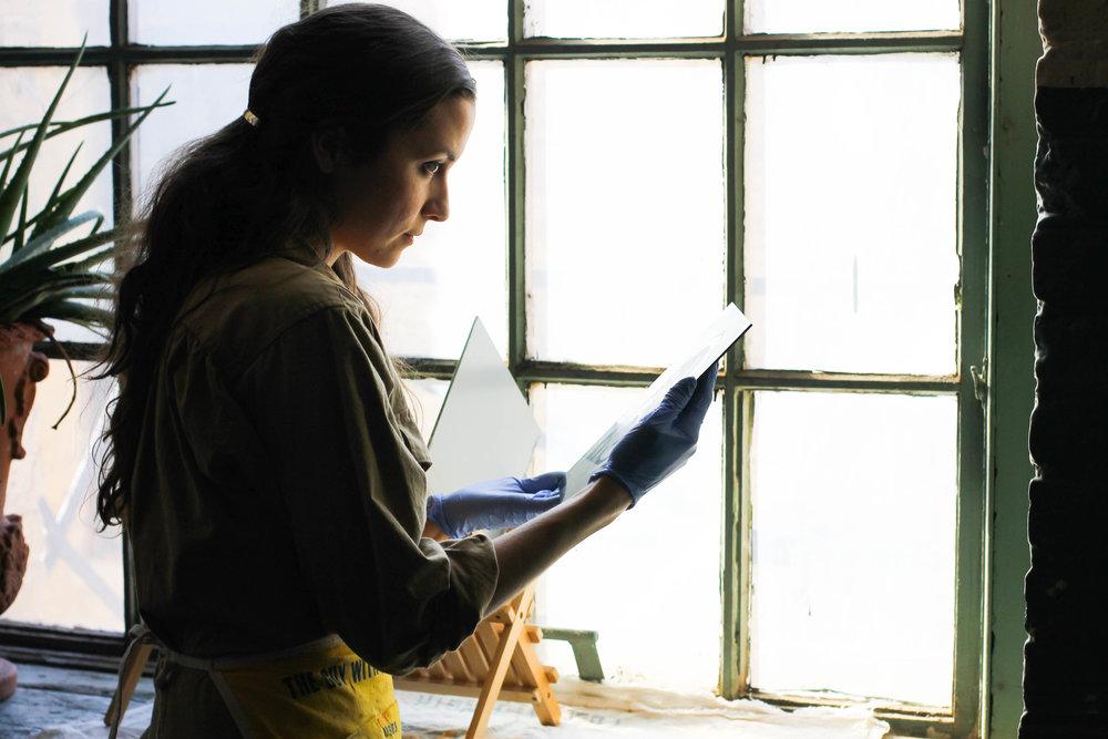 Margaret Muza, Guncotton Tintype