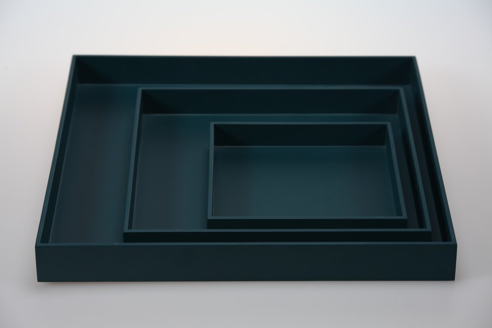 SQ TR-3- SET OF 3 SQUARE TRAYS IN MATT LACQUER, PEACOCK.jpeg