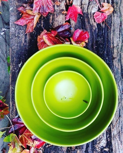 Set salad bowls  #multiuse #bamboo #indochine_bamboo #autumn #green