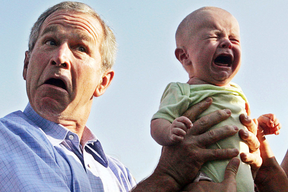 """President George W. Bush: We """"misunderestimated"""" him and he made us cry Image credit: Jim Bourg/Reuters"""