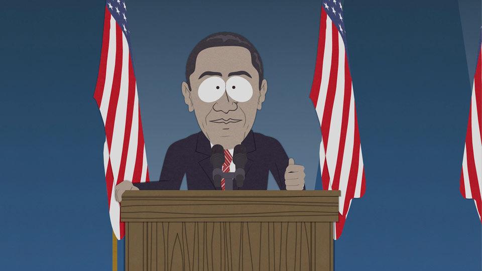 President Obama on South Park Image credit:Viacom