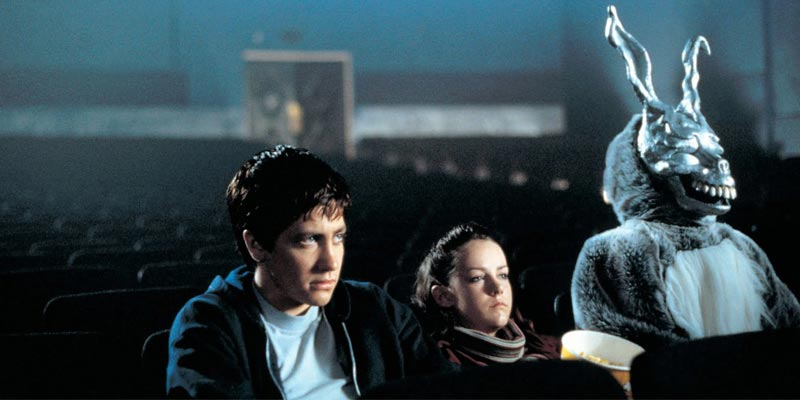 Donnie Darko: The bunny was upset when his friends didn't share the popcorn (Image credit: Pandora)