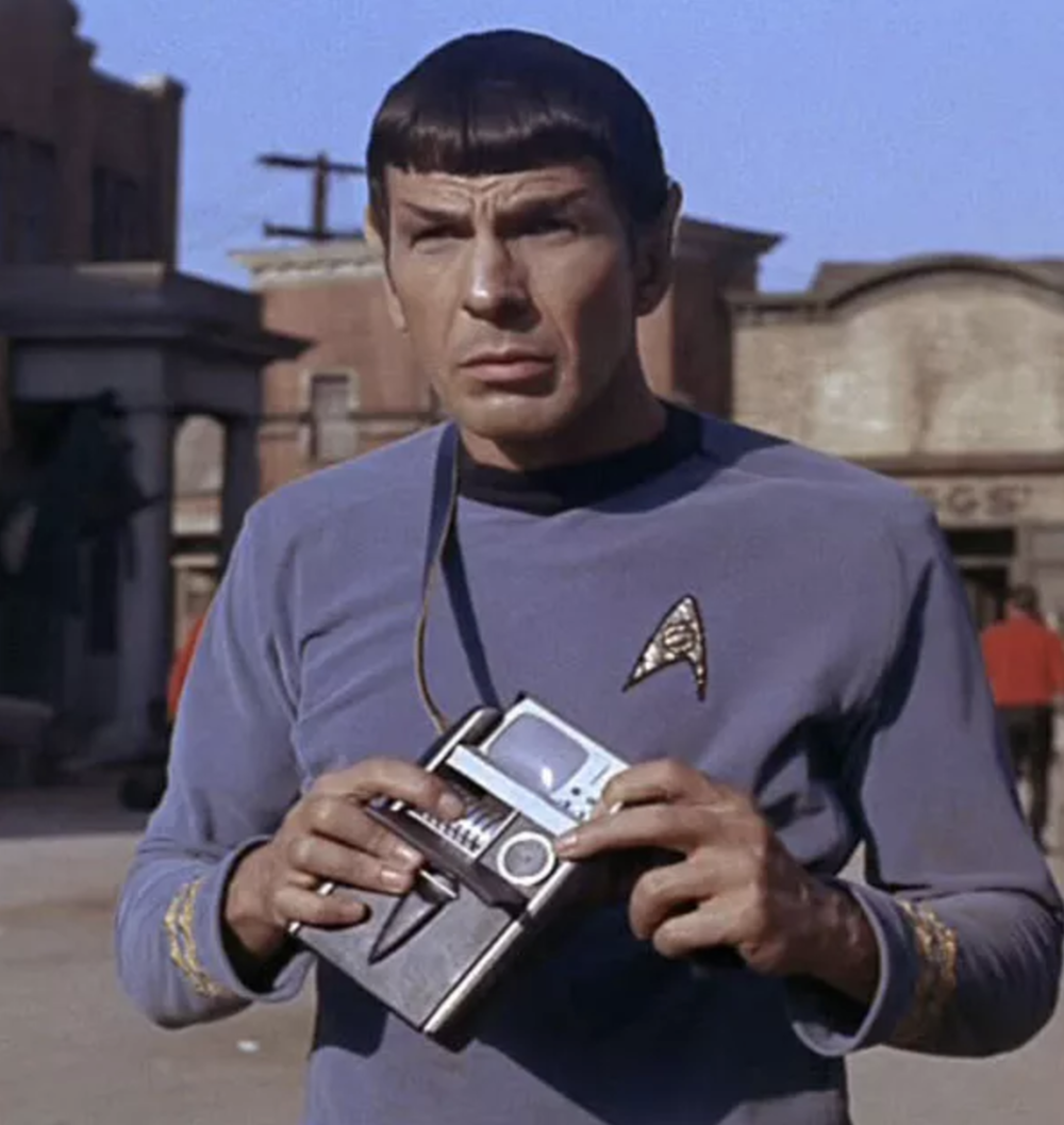 This Vulcan knows how to use his tricorder (Image: CBS Paramount)