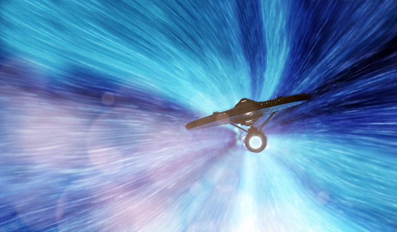 The Enterprise at warp speed (Image: CBS Paramount)