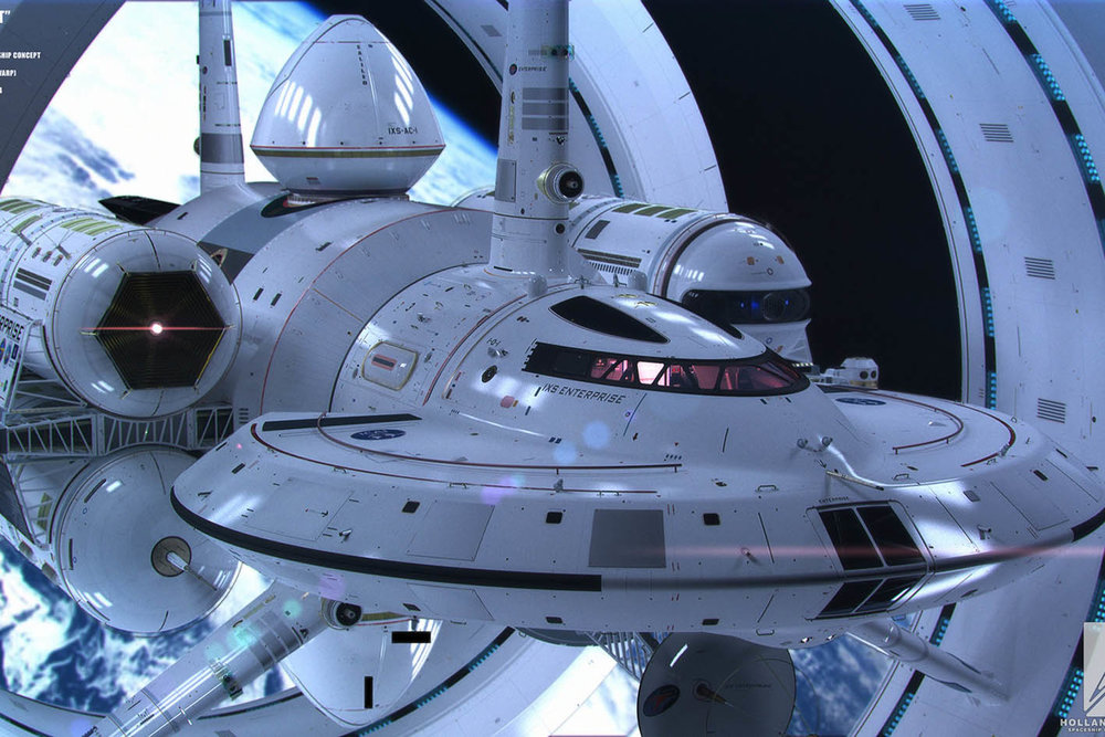 Prototype design of the EM-drive powered spaceship (Image: NASA)