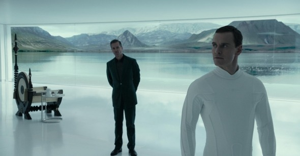The lost perspective: Guy Pierce as Weyland and Michael Fassbender as David (Image: 20th Century Fox)