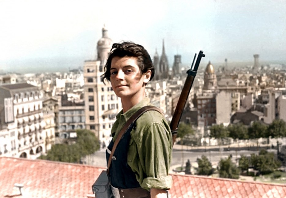 Marina Ginesta was a communist militant during the Spanish Civil War. This picture was taken in Barcelona