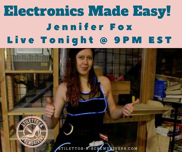 The more we see dope females in tech dominating in this industry the more women will see how attainable having a career in this field really is! @jenfoxbot will let you in her world and show you a thing or two about Electronics! Please come chill with us tonight and make her feel at home! ⠀⠀⠀⠀⠀⠀⠀⠀⠀ 💙💙💙💙💙💙💙💙💙💙💙💙💙💙 Jennifer🦊 is the founder of foxbot industries, a company dedicated to teaching folks, especially women and girls, how to use technology and science to build everything from the silly and whimsical to practical solutions to societal and environmental problems! Check her out! .⠀⠀⠀⠀⠀⠀⠀⠀⠀ .⠀⠀⠀⠀⠀⠀⠀⠀⠀ .⠀⠀⠀⠀⠀⠀⠀⠀⠀ .⠀⠀⠀⠀⠀⠀⠀⠀⠀ .⠀⠀⠀⠀⠀⠀⠀⠀⠀ #girltechs #girltechsrock #pocintech #womenintech #womeninintechnology  #techstartuptips #iphonerepair #ipadrepair #computerrepair #virtualacademy #blackcreatives #femaletech  #techgirls #girlswhocode #electronicrepair #womenwhohustle  #techtalk #diversityintech #femaletechnicians #ladiesthatfixthings #repairgirls #womentechs #wocintech #steam #stem #stemgirls #electronics #womenconstruction #womenbuilders #techtalk