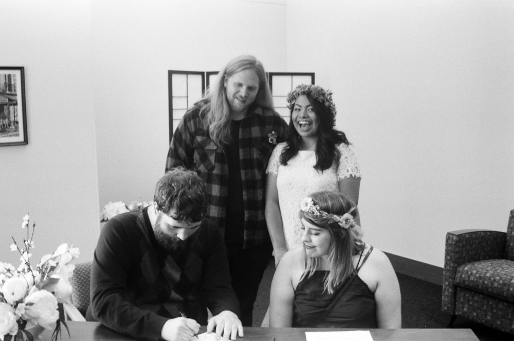 The signing of our paperwork