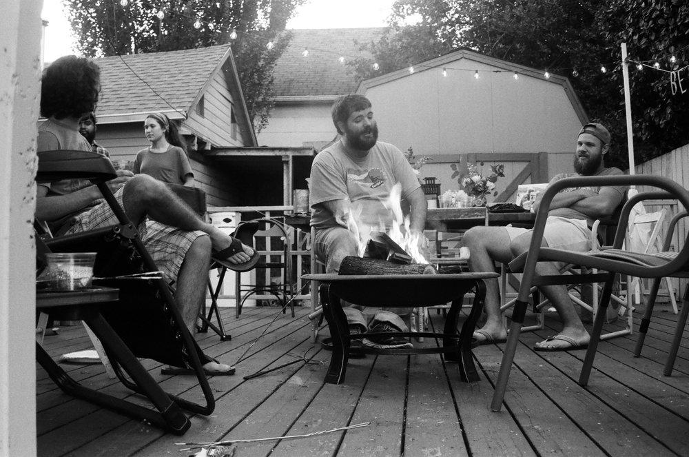 Our back porch Wedding Reception