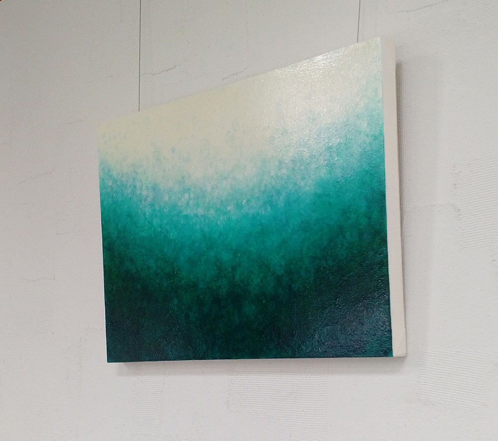 """Ocean's Caress - Infusion Series 36""""w x 24""""h"""