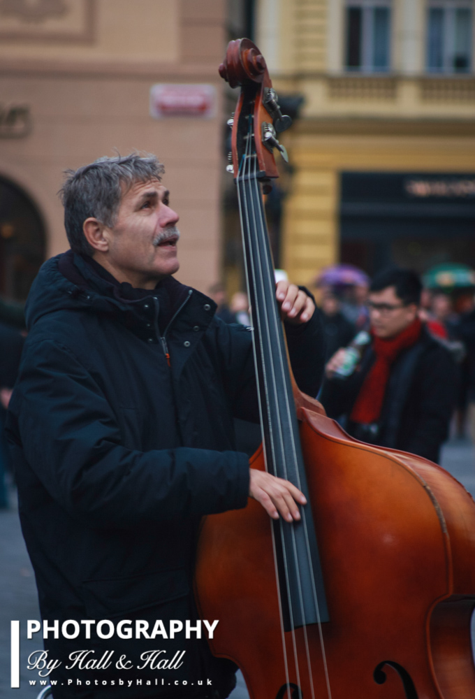 Cello Player, Prague