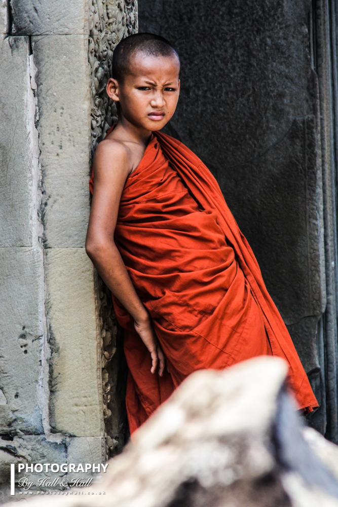 Young Buddhist Monk Trainee, Angkor Wat