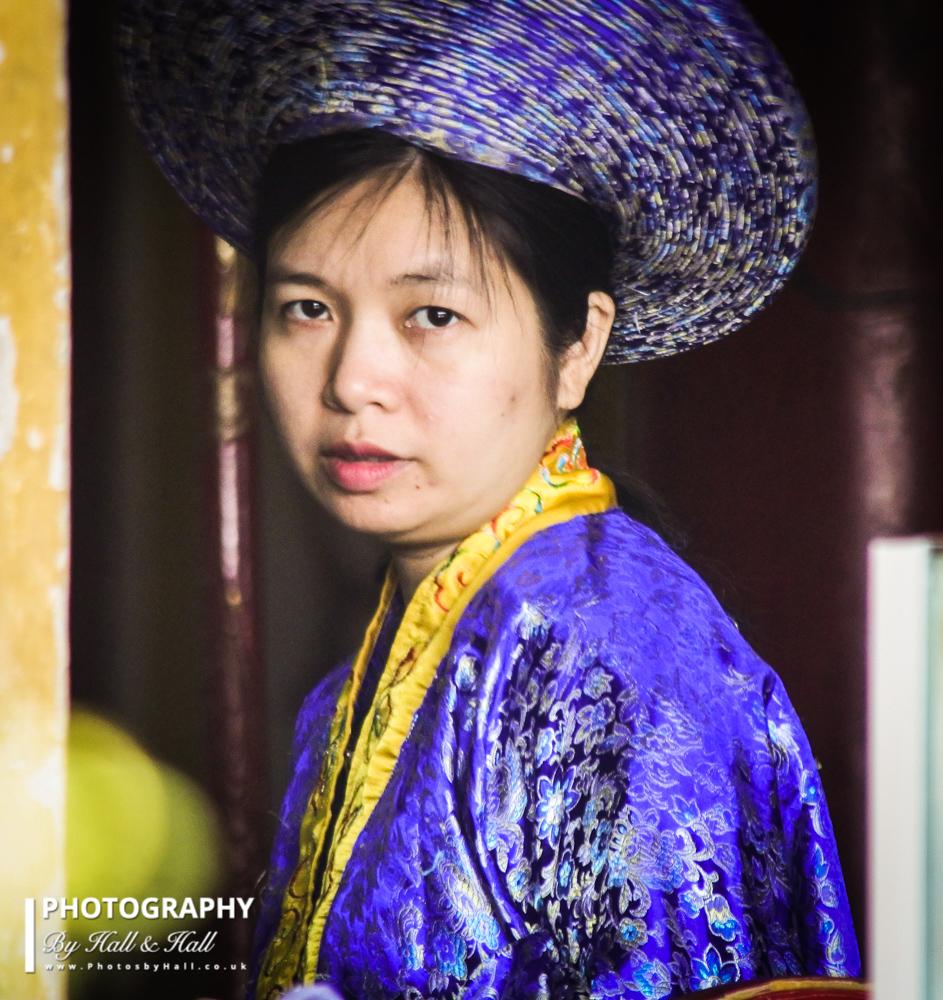 Lady dressed as Empress, Hue, Vietnam