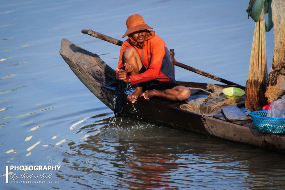 Boatman, Ho Chi Minh City, Vietnam