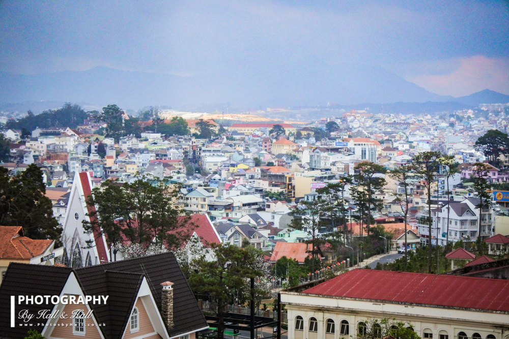 View over Dalat, Vietnam