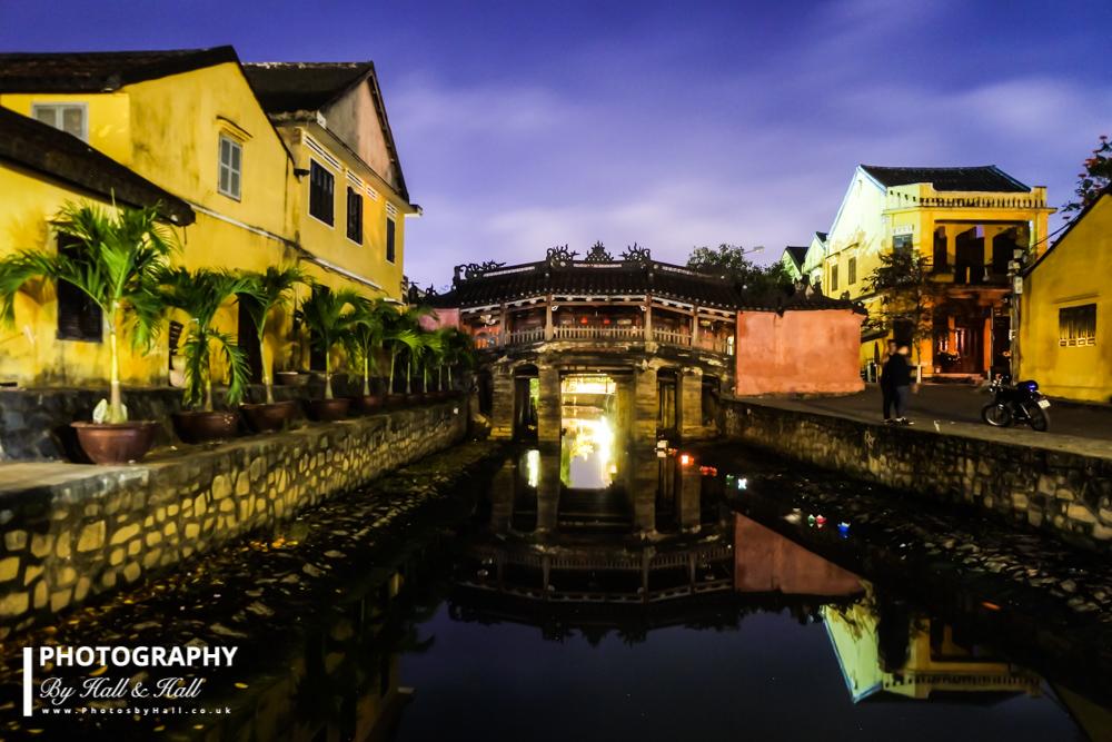Covered Chinese Bridge at Night, Hoi An, Vietnam