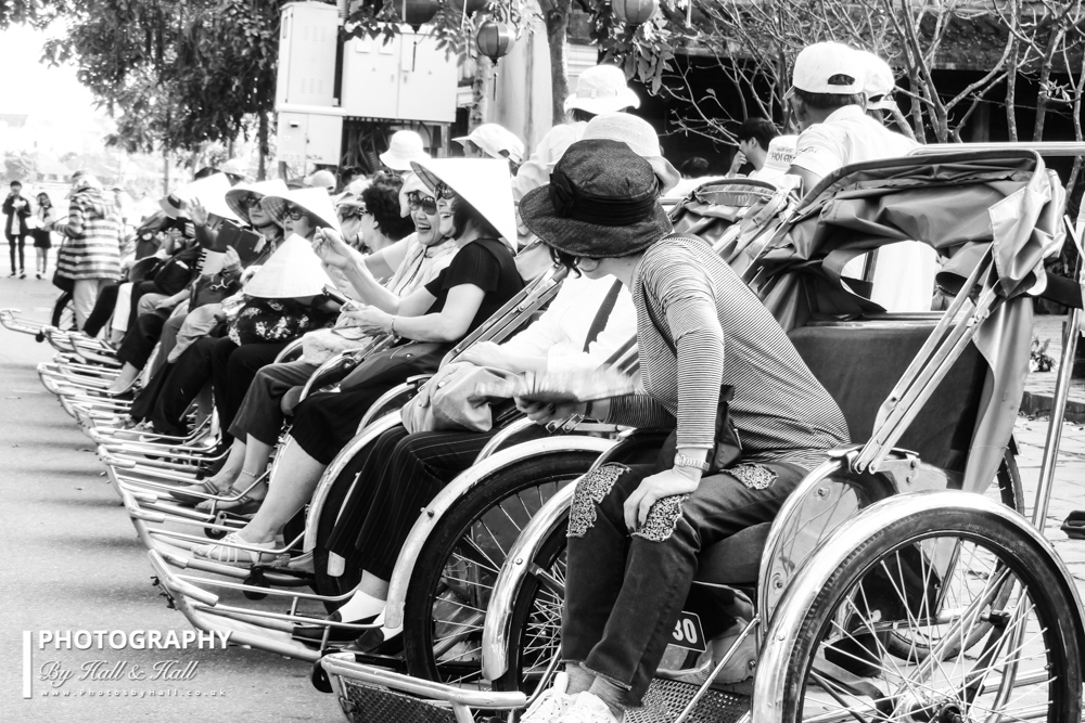 Tourists in Rickshaws, Hoi An, Vietnam