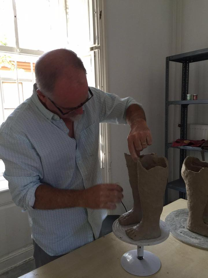 James Tisdale at the International Ceramics Studio in Keckskemet, Hungary.