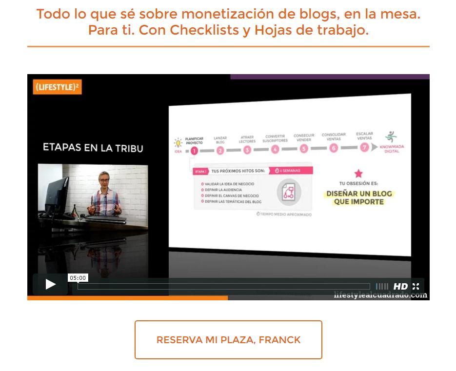 Franck es el mega super archi experto del blogging en español y lo explota creando una tribu exclusiva de bloggers para acceder a contenidos exclusivos, además de conectar con bloggers influyentes. Visita la propuesta de la tribu haciendo click acá. (Y DESPUES VOLVE PARA ACA!!!)