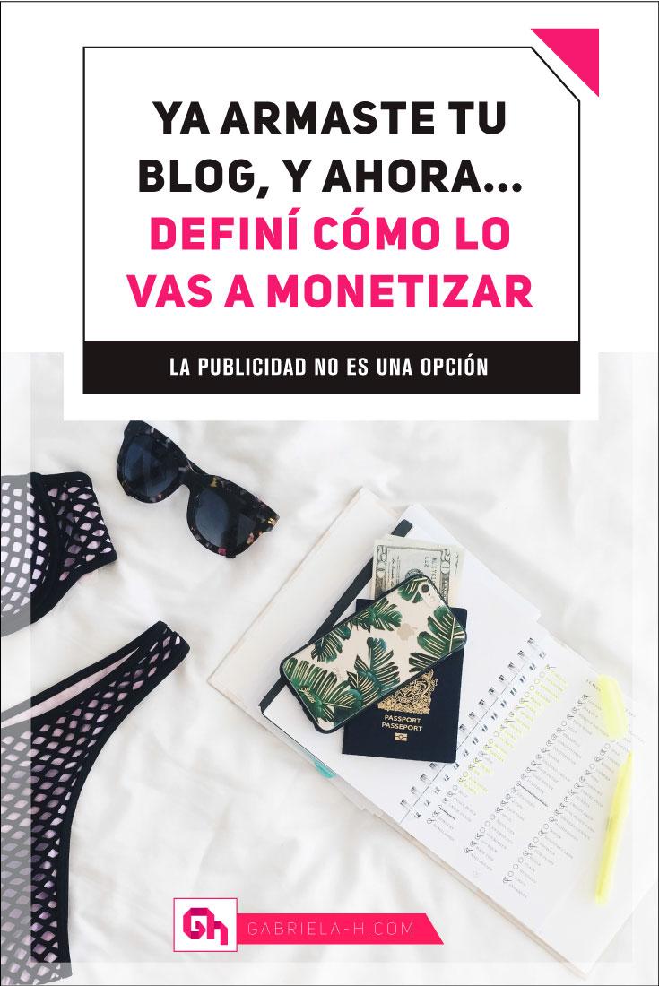 ¿Cómo monetizar tu blog? Acá te paso 3 opciones para hacerlo #negociosonline #productividad #blogging #emprendedores #gabrielah