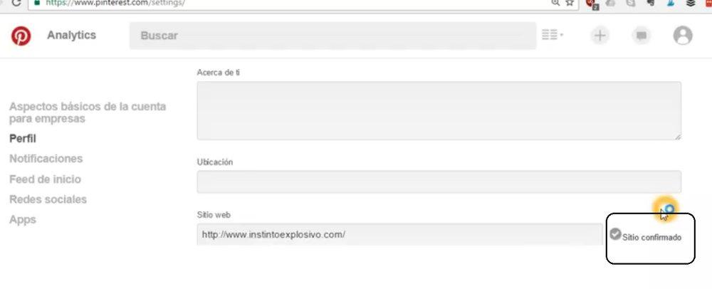 como verificar tu dominio en pinterest