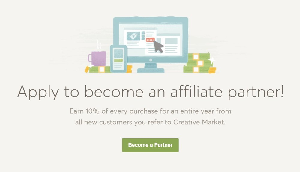 Creative Market  es como un Mercado Libre para creativos. Allí podés comprar y vender productos digitales como plantillas, fotos de stock, vectores y mucho más.