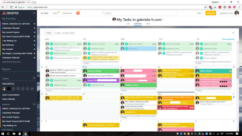 Asana es un gestor de proyectos digital totalmente personalizable.