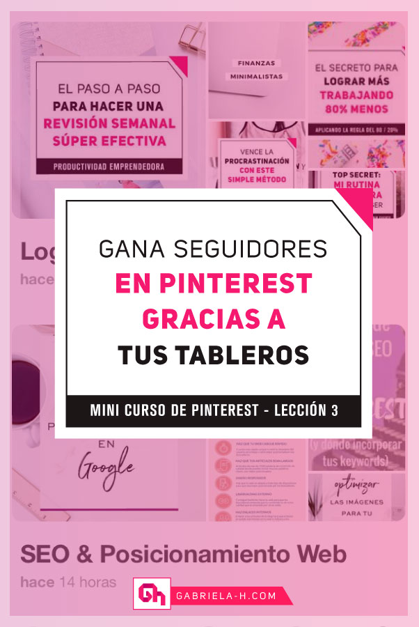 Mini curso de Pinterest Leccion 3: Tableros