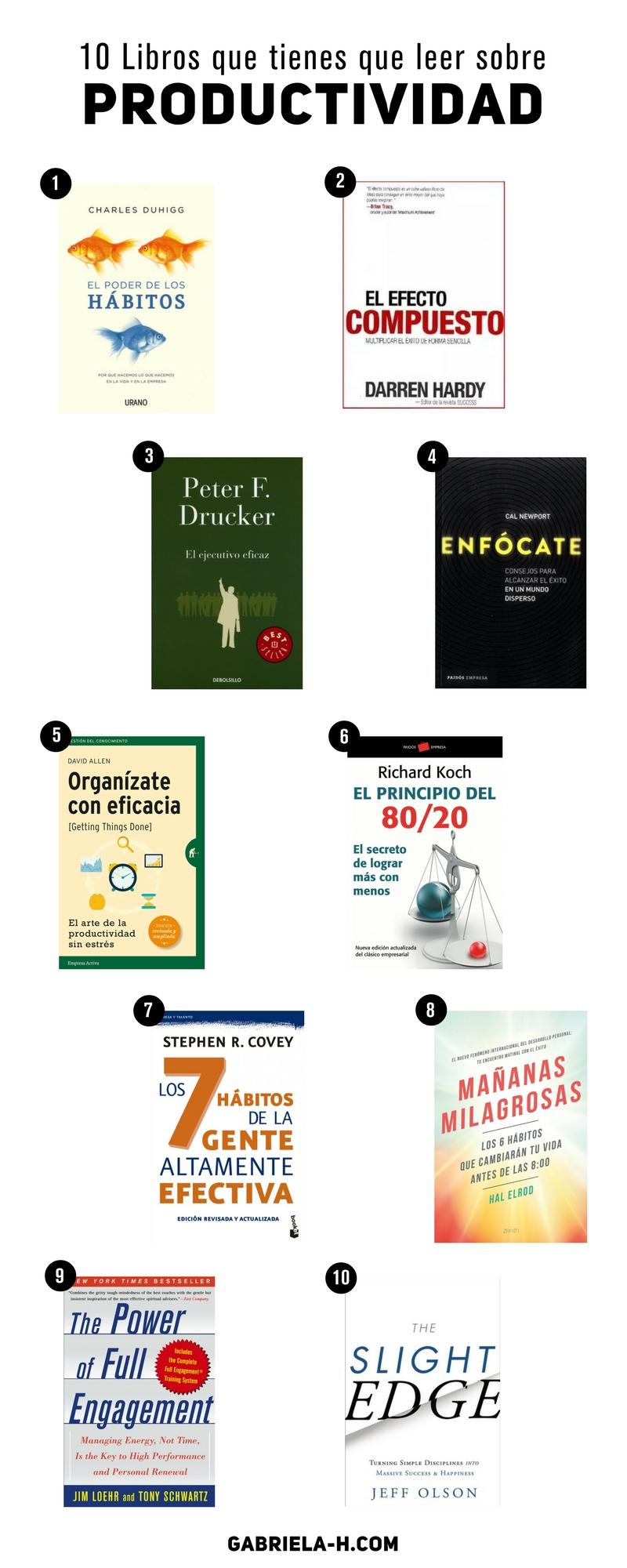 10 Libros sobre Productividad que deberías conocer #productividad #libros #lecturas #organizacion #emprendedores