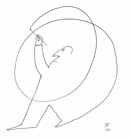 Autoretrato de Saul Steinberg