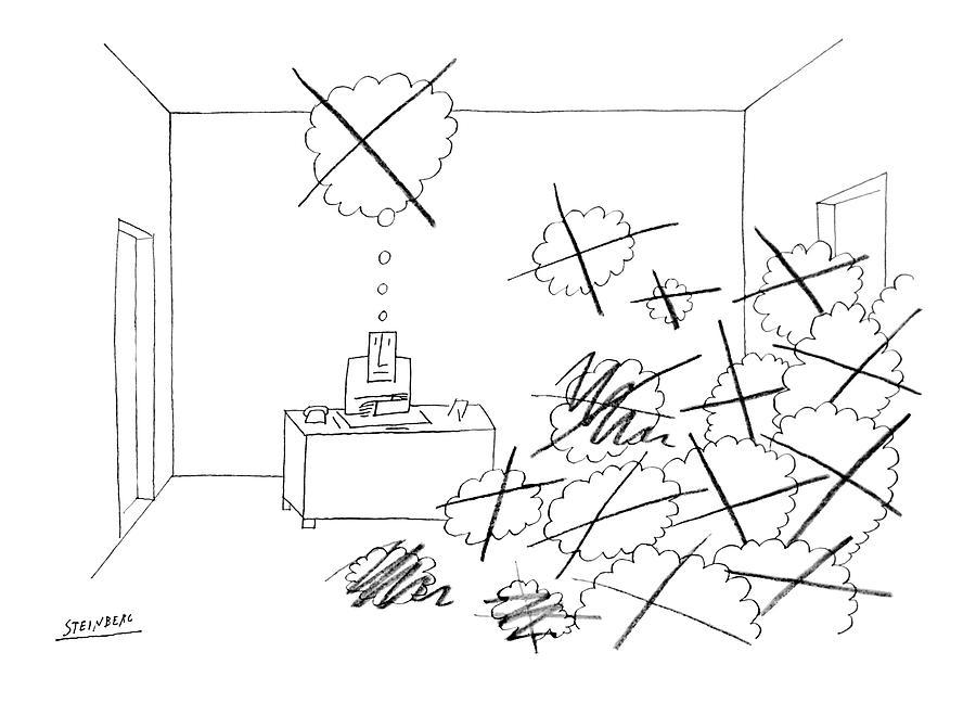 Dibujo para The New Yorker por Saul Steinberg