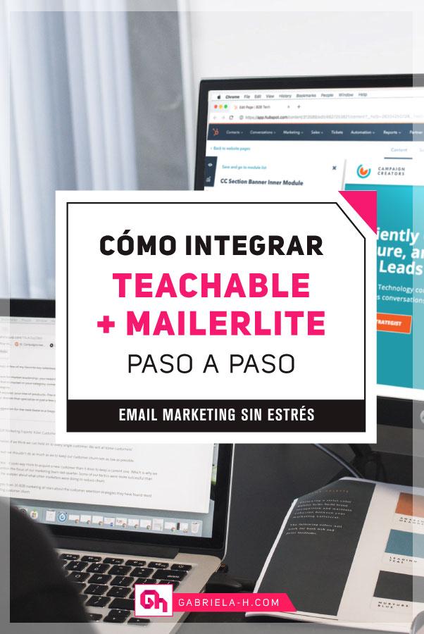 Cómo integrar Teachable con Mailerlite (incluso si vendes varios cursos) #gabrielah #aplicaciones #emailmarketing #mailerlite #teachable