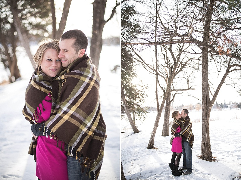 Winter engagement session, Rochelle Louise Photography, Minneapolis wedding photographer, Lake of the Isles engagement session